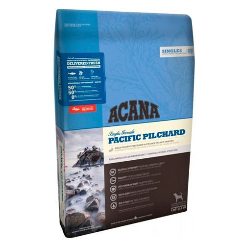 Фото - Корм для собак и щенков ACANA Pacific Pilchard для всех пород, тихоокеанская сардина сух. 2кг корм для собак и щенков acana grasslands для всех пород ягненок утка яйцо рыба сух 2кг