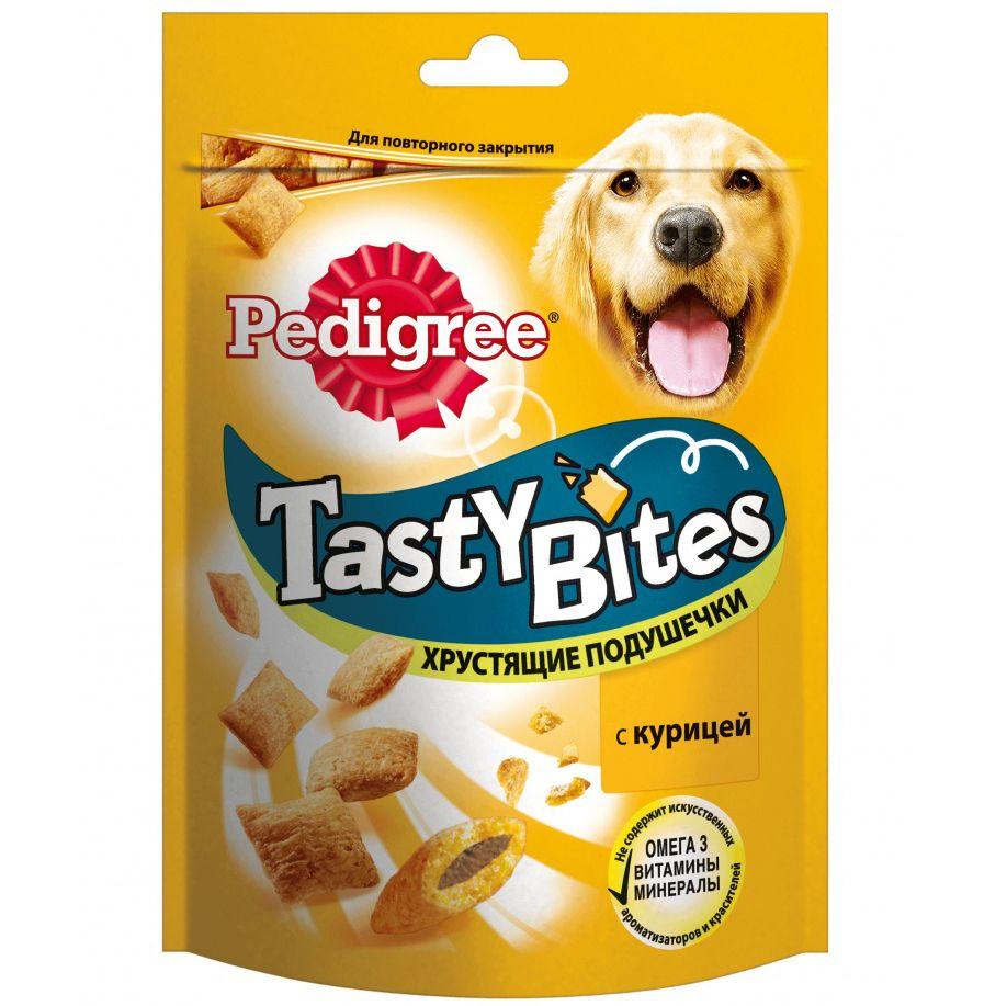 Лакомство для собак Pedigree Хрустящие подушечки с курицей 95г