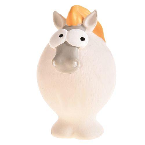 Игрушка для собак Foxie Лошадь с пищалкой латекс 12х7х7см белая