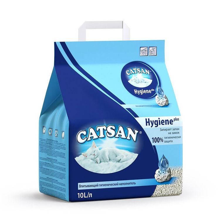 Наполнитель для кошачьего туалета CATSAN Гигиена впитывающий 10л