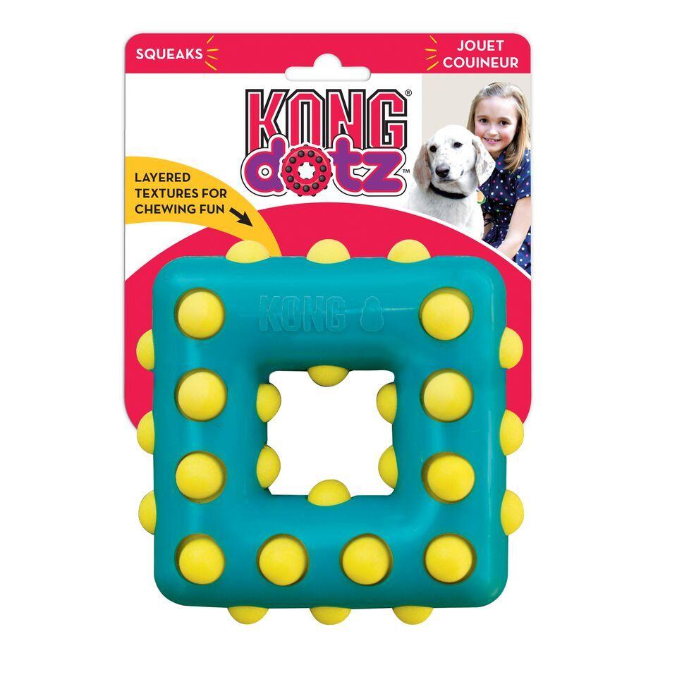 Игрушка для собак KONG Dotz квадрат малый 9см