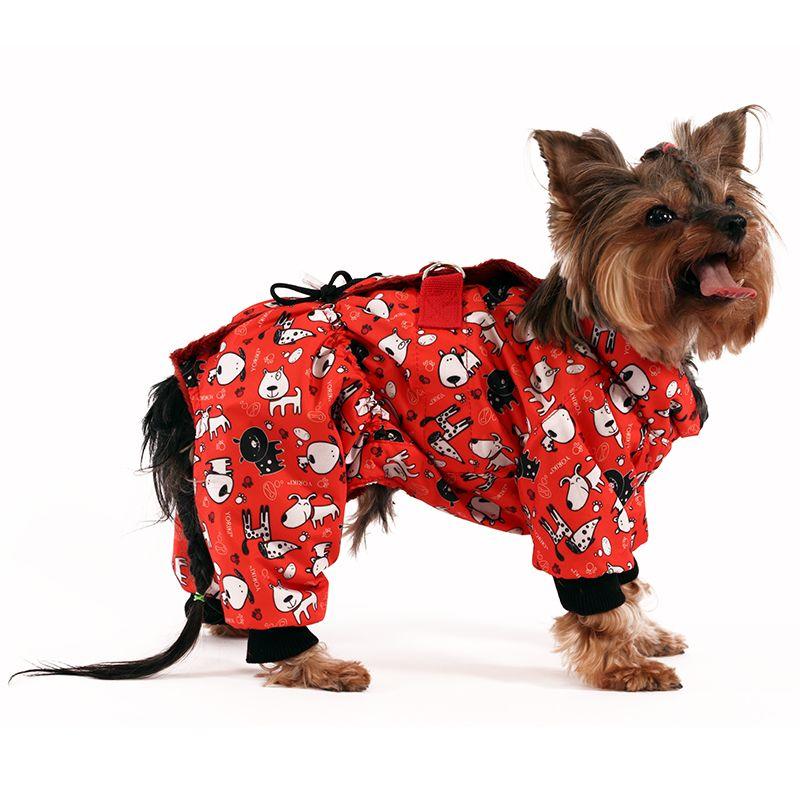 цена Комбинезон для собак YORIKI Спектр дев. (красн.) р-р XL 32 см онлайн в 2017 году