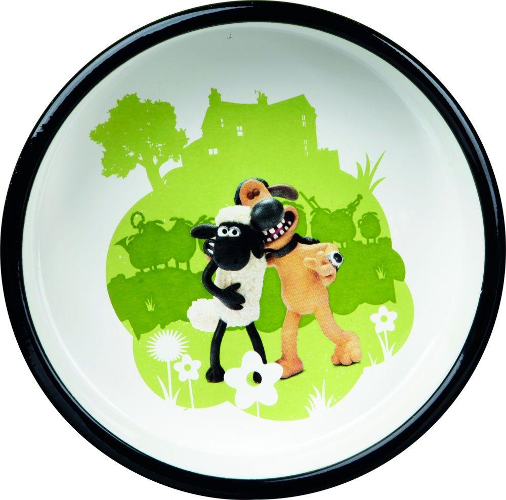 Миска для животных TRIXIE Shaun the Sheep керамическая зеленая 16см 800мл