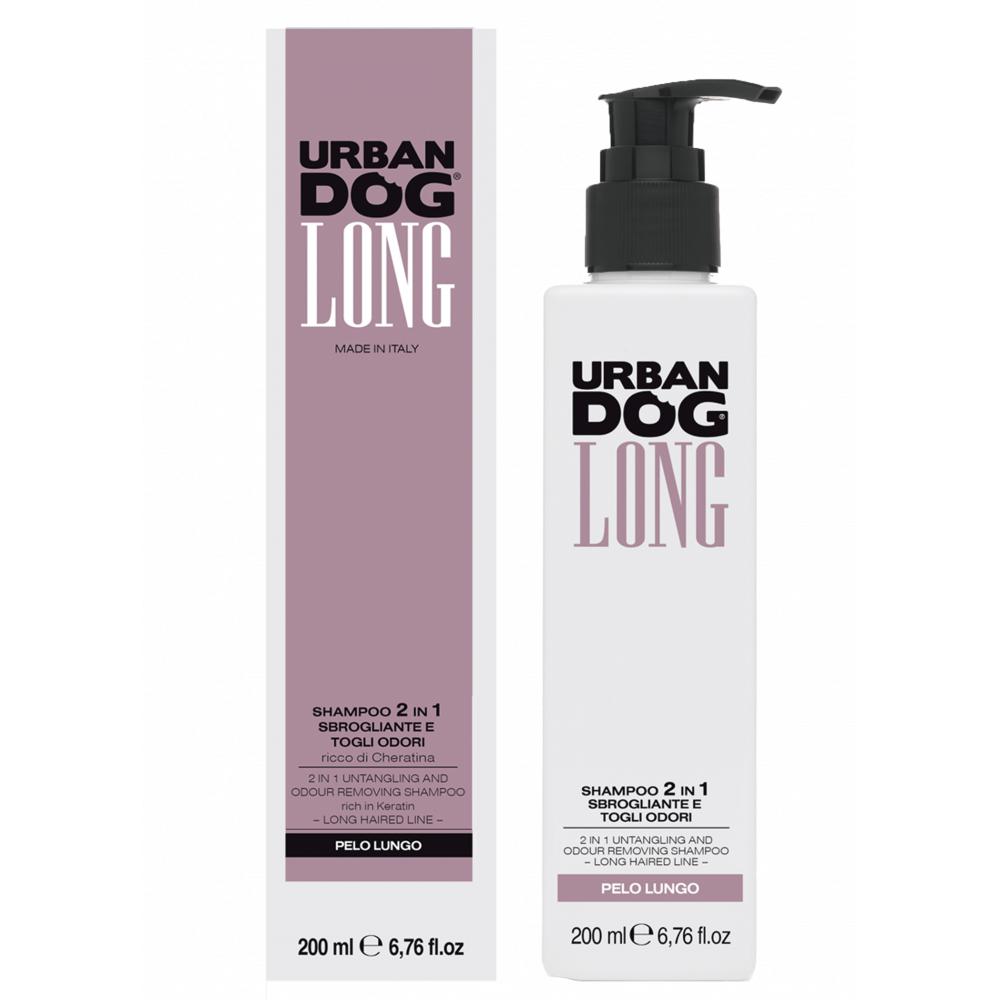 Шампунь URBAN DOG 2 в 1 распутывающий и удаляющий неприятный запах, Long Hair 200мл