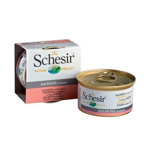 Корм для кошек SCHESIR лосось в собственном соку конс. 85г недорого