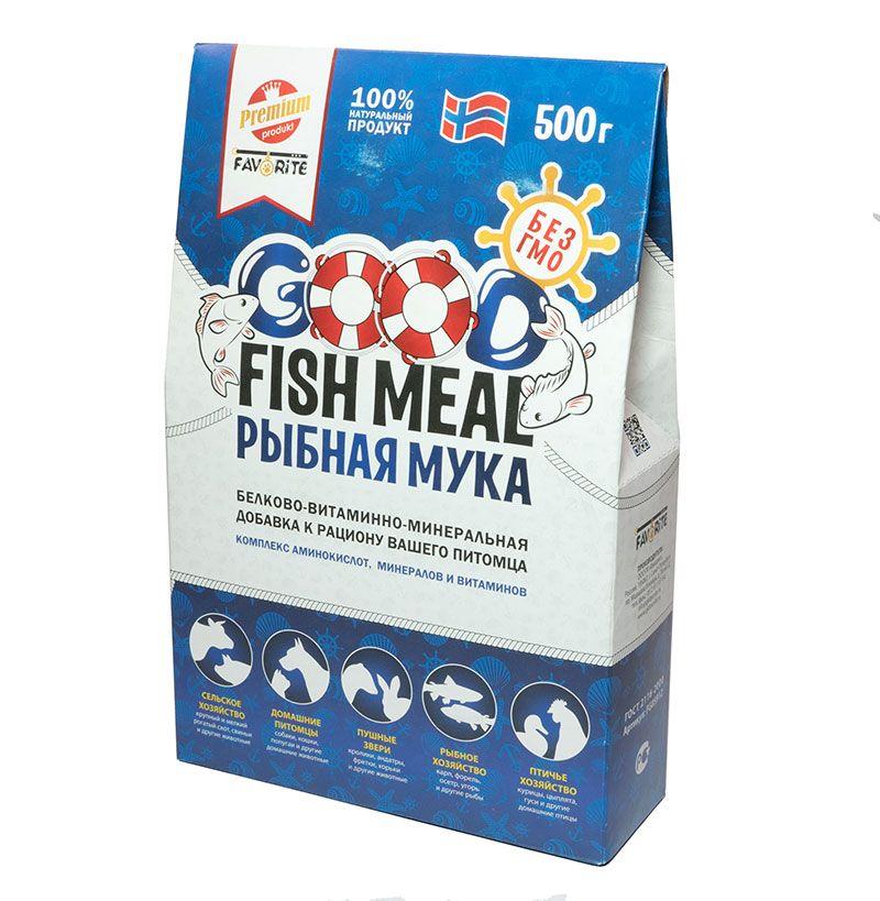 Белково-витаминно-минеральная добавка к рациону GOOD FISH MEAL Рыбная мука, 500г белково витаминно минеральная добавка к рациону good fish meal рыбная мука 250г