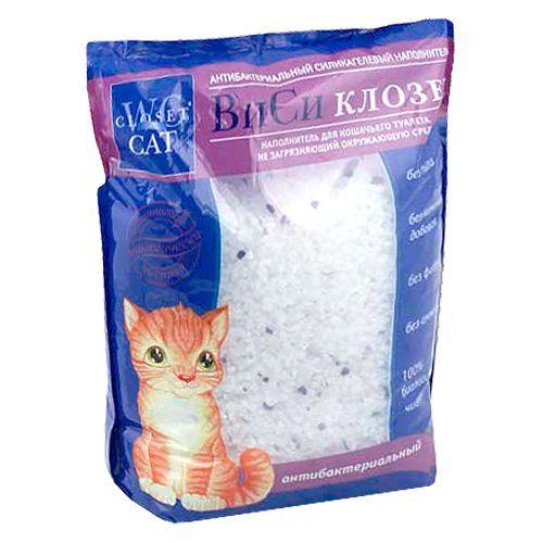 Наполнитель для кошачьего туалета WC CLOSET силикагелевый антибактериальный 7,6л