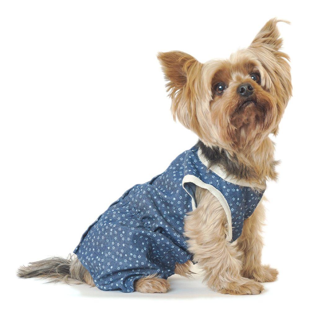 цена Комбинезон для собак YORIKI Звездный, мальчик размер М 25см онлайн в 2017 году
