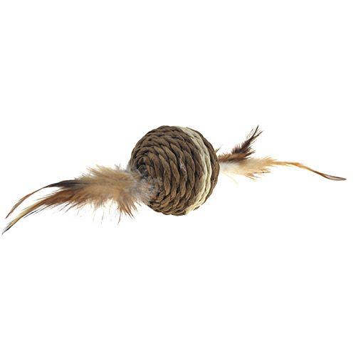 Игрушка для кошек CHOMPER Natural Набор Мячики с пером 2шт