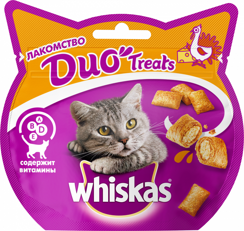 Лакомство для кошек Whiskas Duo индейка, сыр 40г