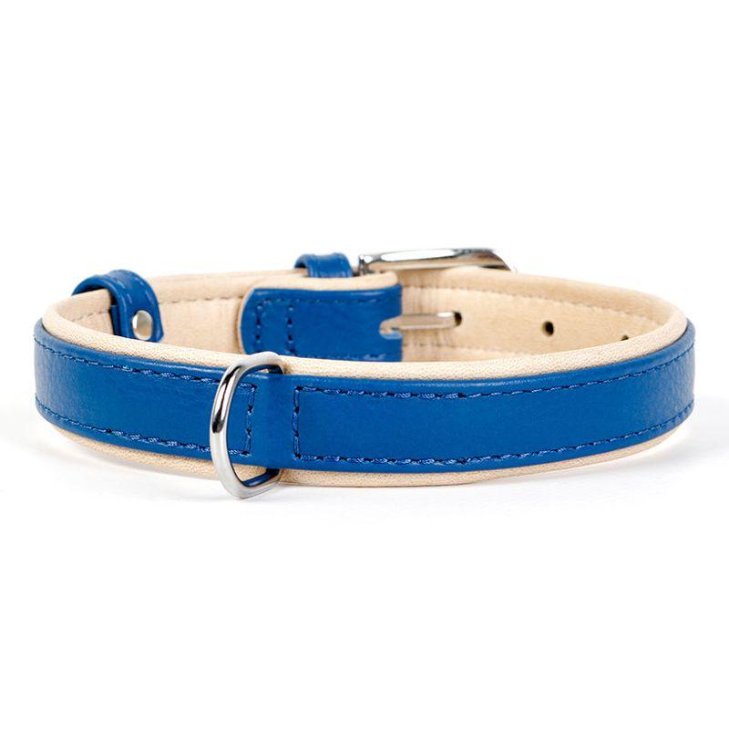 Ошейник для собак COLLAR Brilliance без украшений ширина 15мм длина 27-36см синий