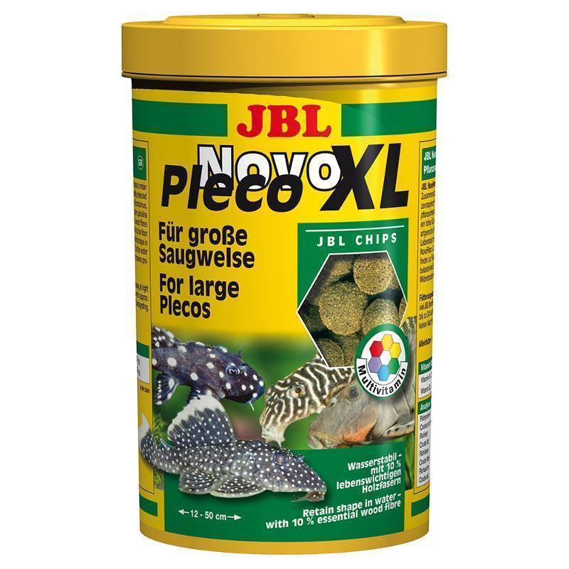цена на Корм для рыб JBL NovoPleco Водорослевые чипсы с примесью целлюлозы для кольчужных сомов 1л (550г)