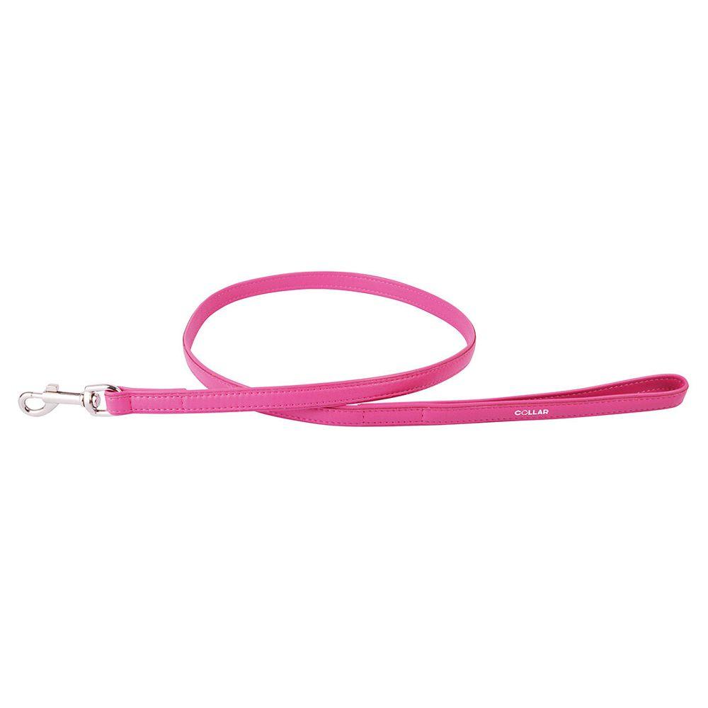 Поводок для собак COLLAR Glamour 12мм 122см розовый collar glamour ошейник collar glamour без украшений ширина 20 мм длина 30 39 см розовый