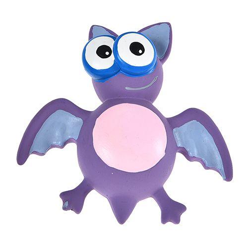 Игрушка для собак Foxie Летучая мышь с пищалкой 17х16х6см латекс фиолетовая