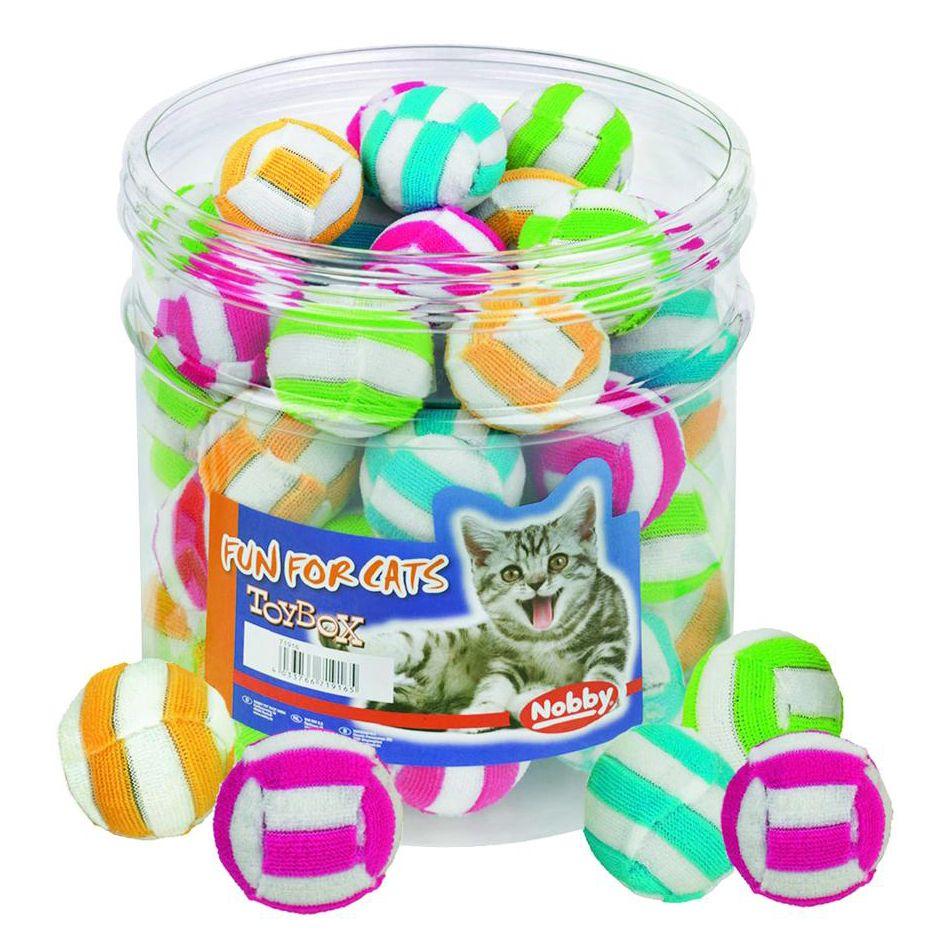 Игрушка для кошек Nobby Мяч полосатый 4см