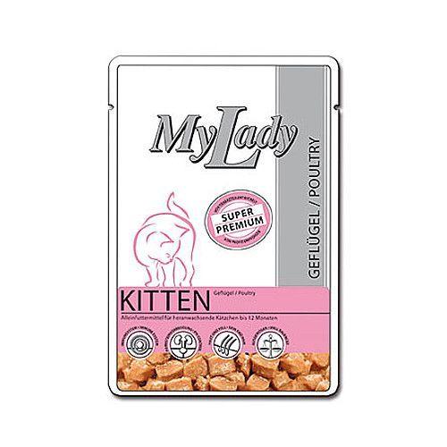 Корм для котят Dr. ALDER`s My Lady Premium конс. 85г паучи dr alder s mylady super premium kitten poultry с птицей для котят 85г 400778