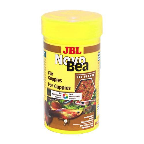 Корм для рыб JBL NovoBea для гуппи и других маленьких аквариумных рыб 100мл (30г) корм aquamenu гаммариус для аквариумных рыб и пресноводный черепах 600 мл 60 г