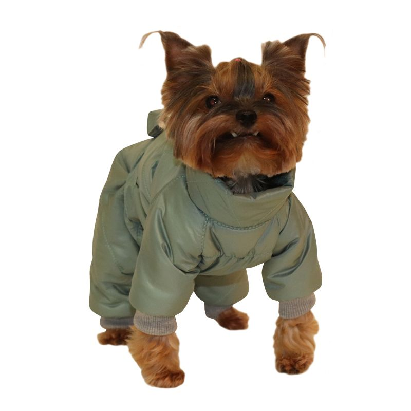 Комбинезон для собак YORIKI Ментол мал. S 20 см комбинезон для собак yoriki космонавт унисекс s 20 см