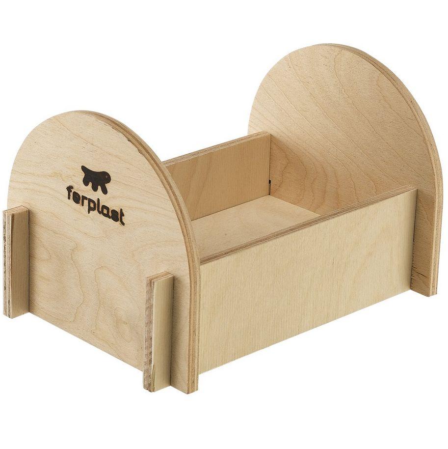 Кроватка для грызунов FERPLAST для хомяков (деревянная) клетка для грызунов ferplast criceti 9 princess для хомяков 46х30х23см