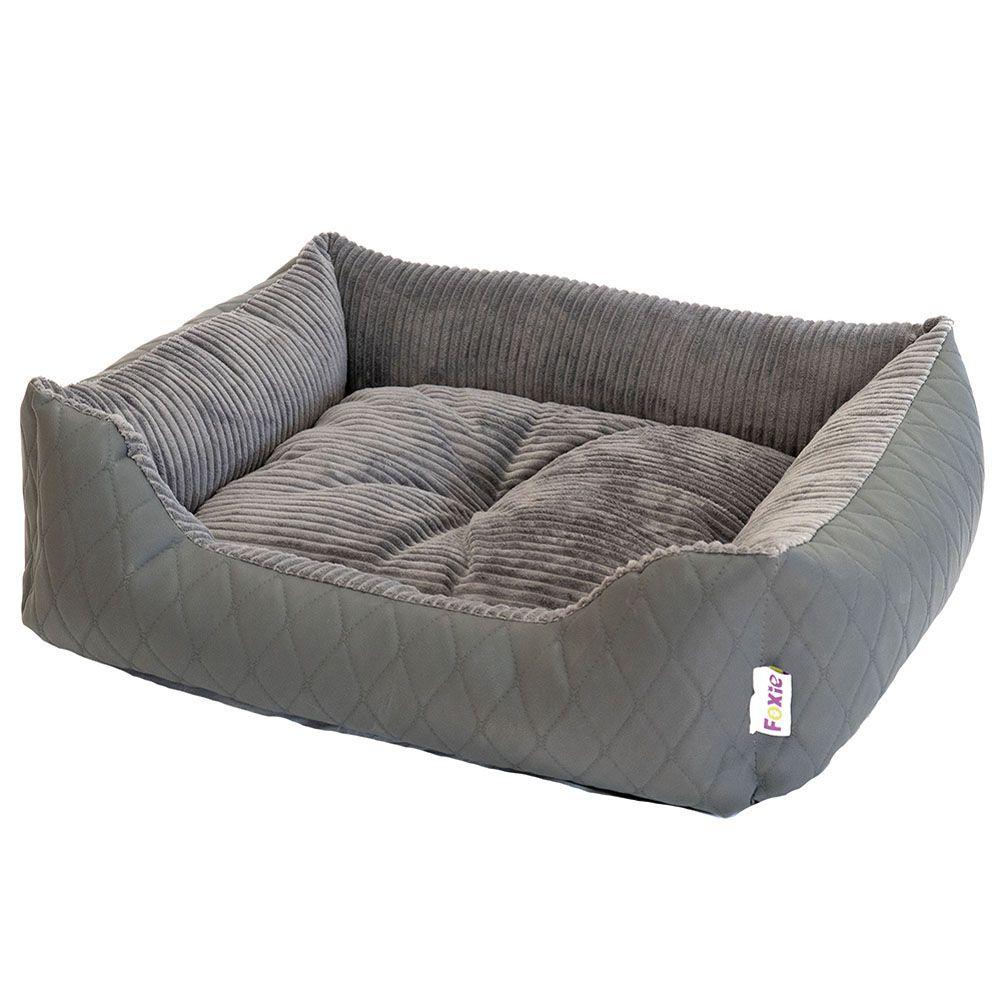 Фото - Лежак для животных Foxie Leather 60х50х18см серый лежак для животных foxie leather 70х60х23см красный