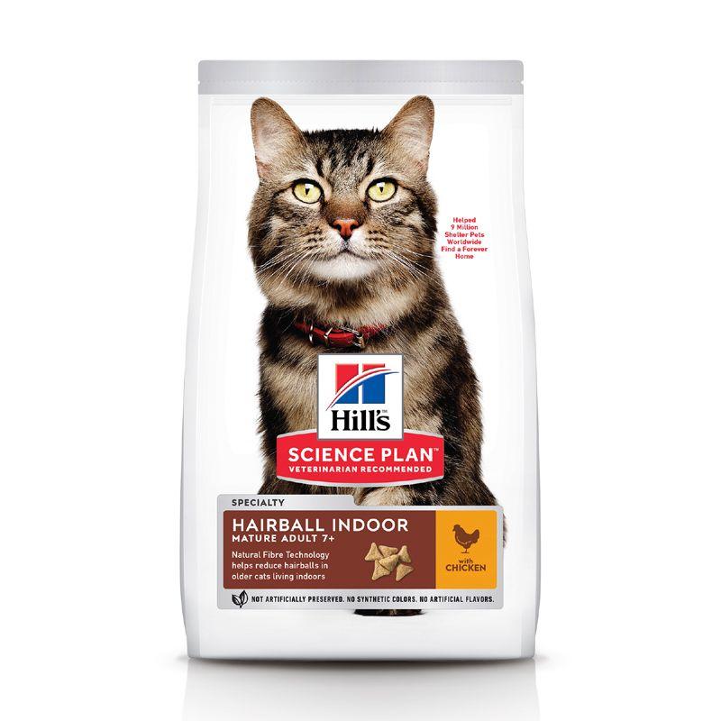 Корм для кошек Hill's Science Plan старше 7 лет для выведения комков шерсти курица сух. 1,5кг корм eukanuba для кошек для выведения комков шерсти 2 кг