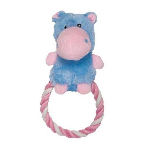Игрушка CHOMPER Puppy Бегемот на кольце из каната игрушка chomper puppy кролик с кольцом из каната