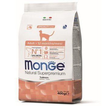 цена Корм для кошек Monge Cat лосось сух. 400г онлайн в 2017 году