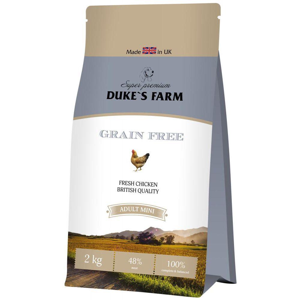 Корм для собак DUKE'S FARM беззерновой для мелких пород, курица сух. 2кг
