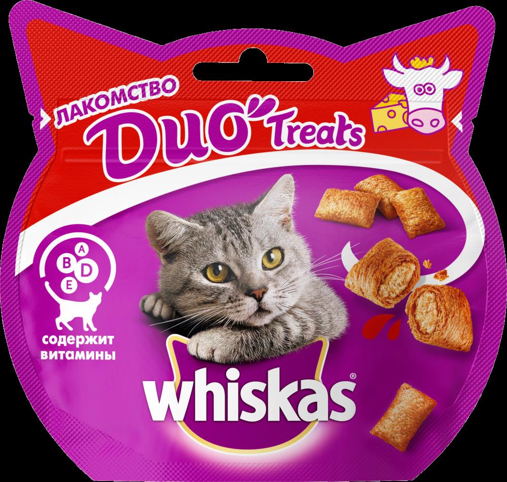 Лакомство для кошек Whiskas Duo говядина, сыр 40г