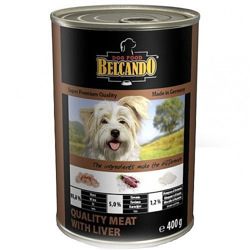 Корм для собак Belcando Мясо, печень конс. 400г цена и фото