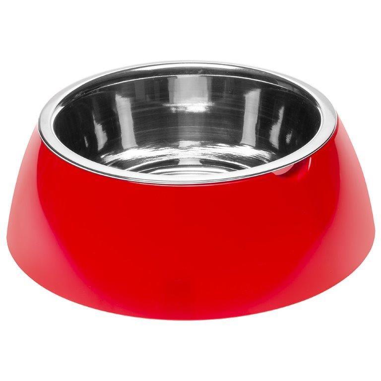 Миска для собак FERPLAST Jolie SM Металлическая на пластике, красная 500мл