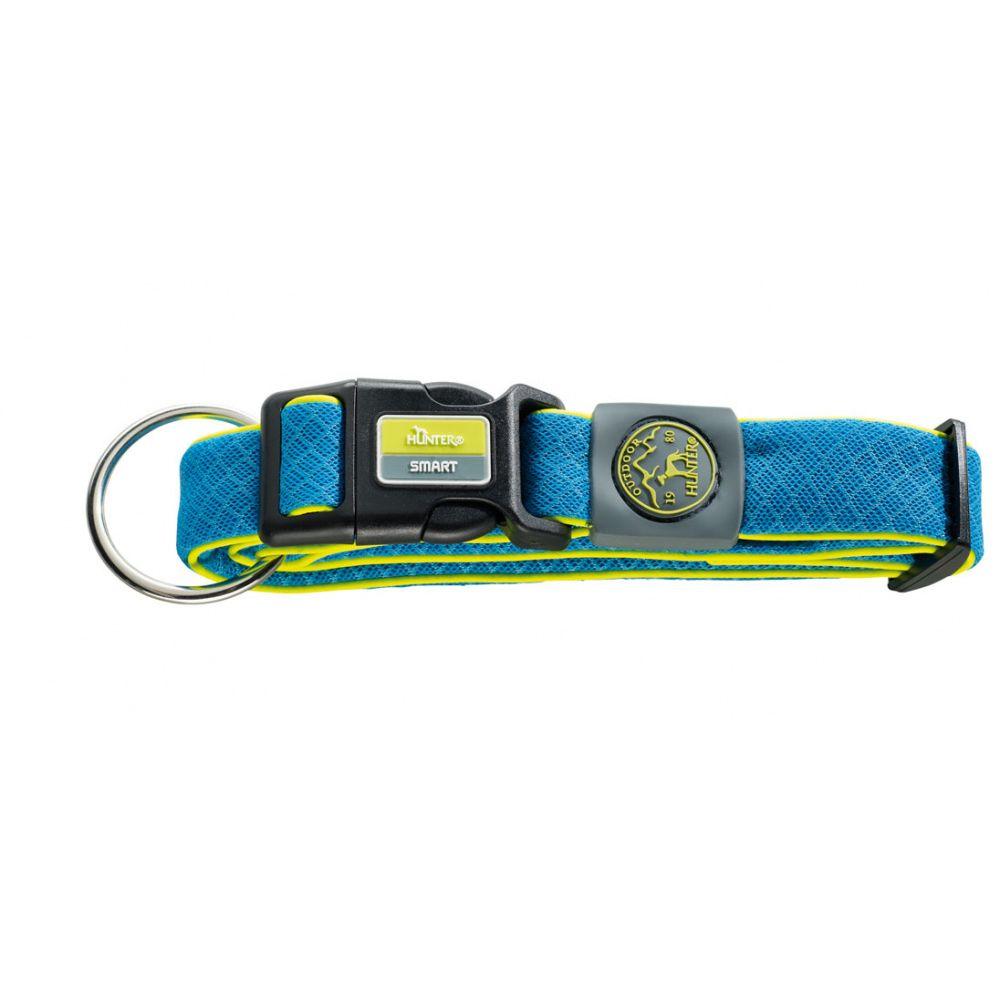Ошейник для собак HUNTER Maui XL (36-55 cм)/2,5см сетчатый текстиль голубой