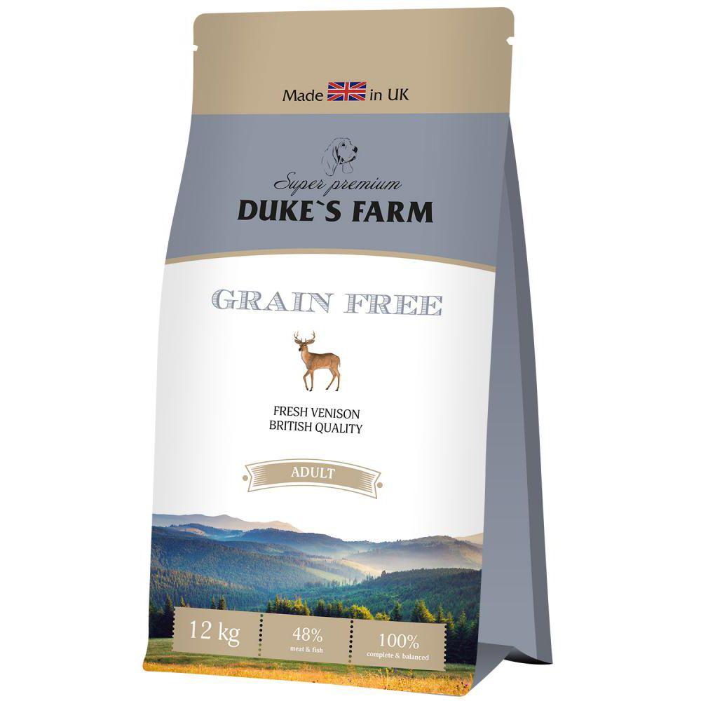 цена на Корм для собак DUKE'S FARM беззерновой, оленина сух. 12кг