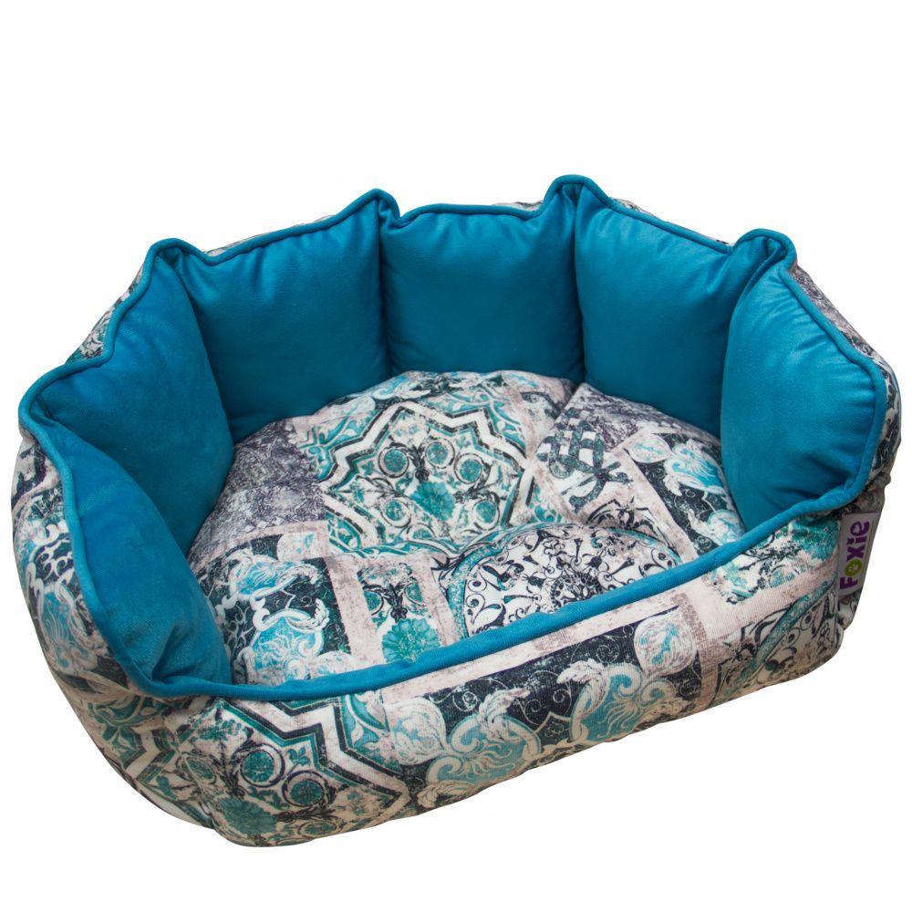Лежак для животных Foxie Ethnics 58х51см голубой foxie the singing dog