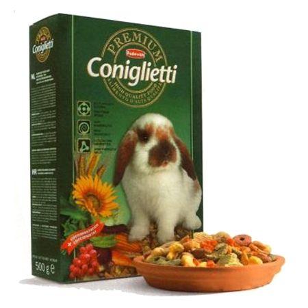 Корм для грызунов Padovan PREMIUM для кроликов сух. 500г padovan лакомство padovan herbal treats melissa для грызунов и кроликов из трав с мелиссой и морковью 200 г