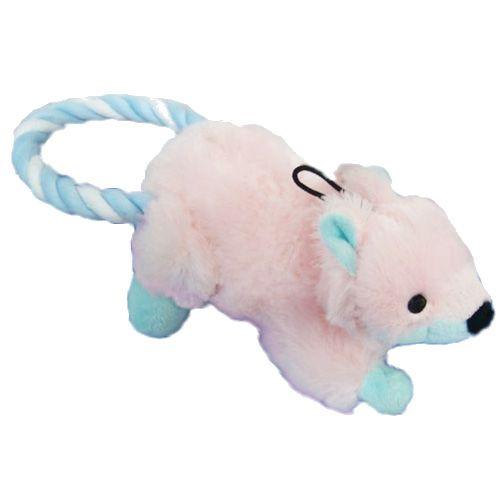 Игрушка для собак CHOMPER Puppy Лиса с кольцом из каната игрушка для собак chomper тяни толкай восьмерка из каната