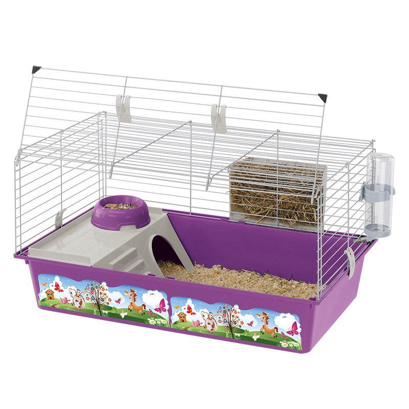Клетка для грызунов FERPLAST Cavie-80 Dekor для кроликов и морских свинок 77х48х42см