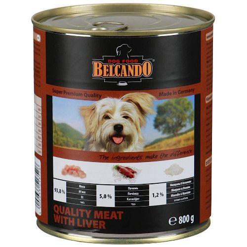 Корм для собак Belcando Мясо, печень конс. 800г цена и фото
