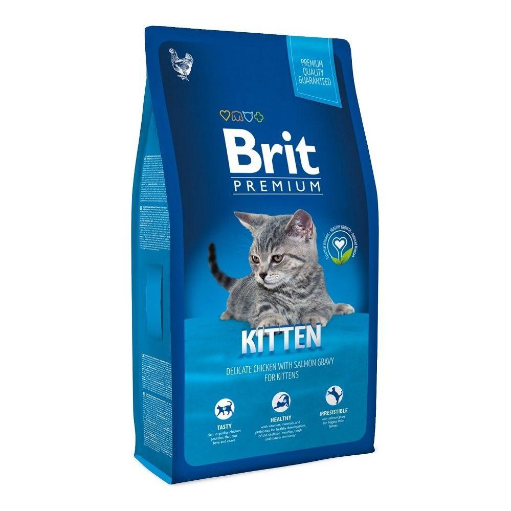 Корм для котят Brit Premium Cat Kitten курица в лососевом соусе сух. 1,5кг