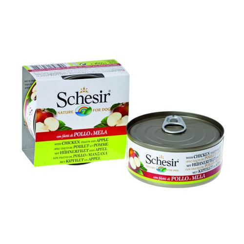 Корм для собак SCHESIR Цыпленок, яблоко конс. 150г