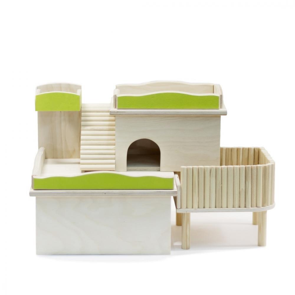Домик для грызунов DoradoWooD Комплекс с купалкой для хомяков колесо для грызунов doradowood 22см