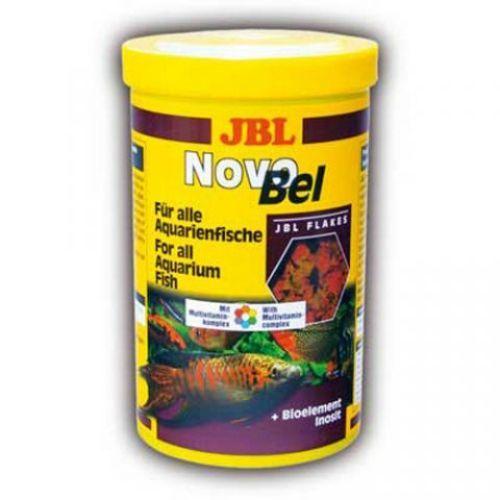 Корм для рыб JBL NovoBel Основной в форме хлопьев для всех аквариумных рыб 100мл (16г) корм для рыб jbl novogranocolor основной в форме гранул для яркой окраски рыб в банке 250мл 120г