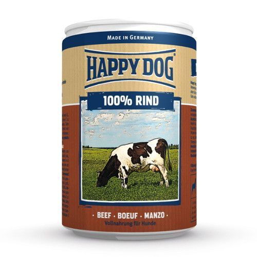 цена на Корм для собак HAPPY DOG 100% мясо Говядина ж/б конс. 400г