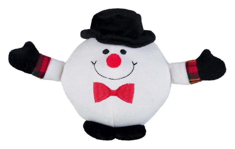 Игрушка для собак TRIXIE новогодняя Санта-Клаусы/Пингвины/Снеговики 18см