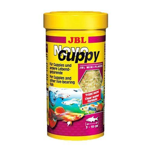 Корм для рыб JBL NovoGuppy основной для гуппи и других живородящих 100мл гуппи
