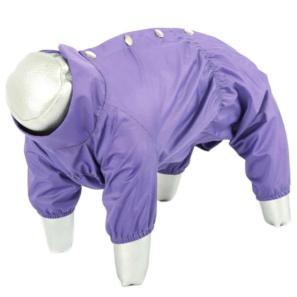 Дождевик для собак YORIKI Пурпурный плащ мальчик р. XL 32см