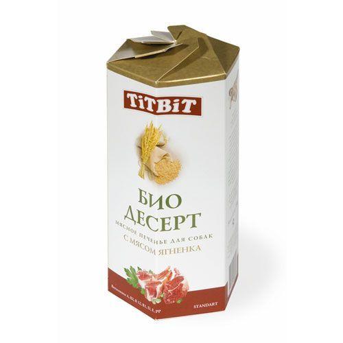 Лакомство для собак TITBIT Печенье с мясом ягненка стандарт цена