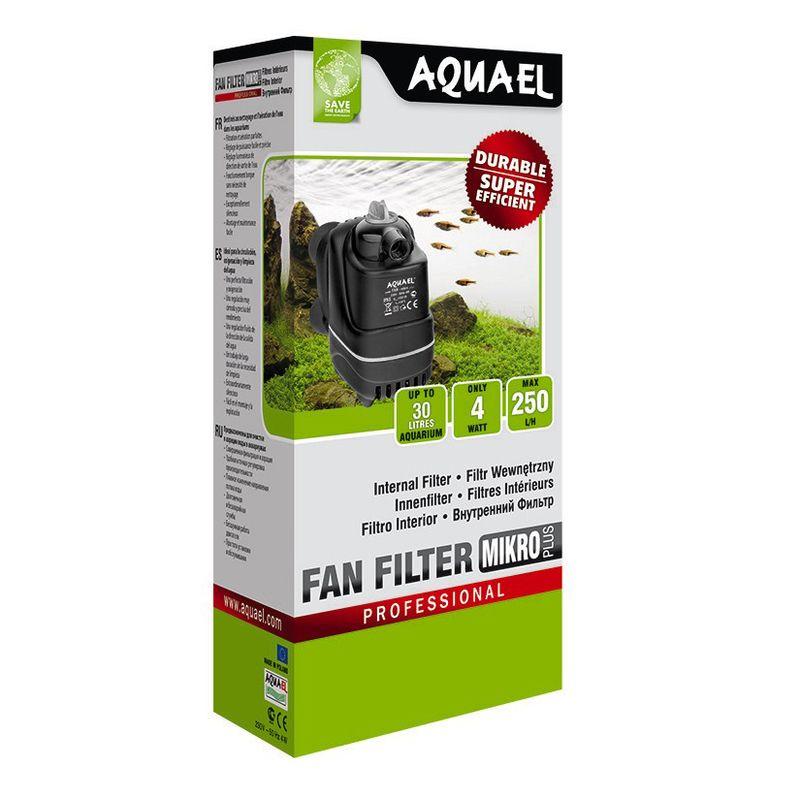 Фото - Внутренний фильтр AQUAEL FAN FILTER MIKRO plus для аквариума до 30 л (250 л/ч, 4 Вт) внутренний фильтр aquael fan filter 3 plus для аквариума 150 250 л 700 л ч 12 вт