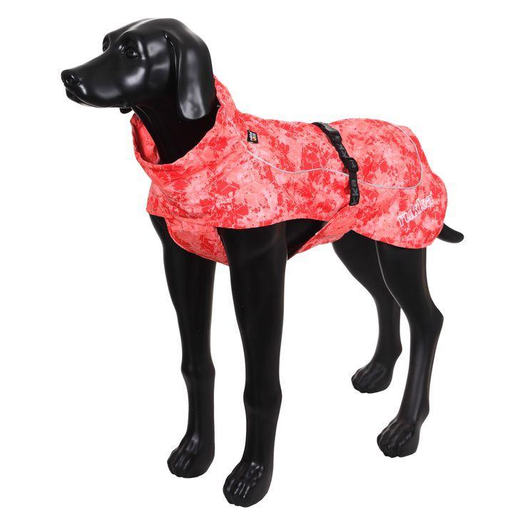 Дождевик для собак RUKKA Drizzle 55см красный