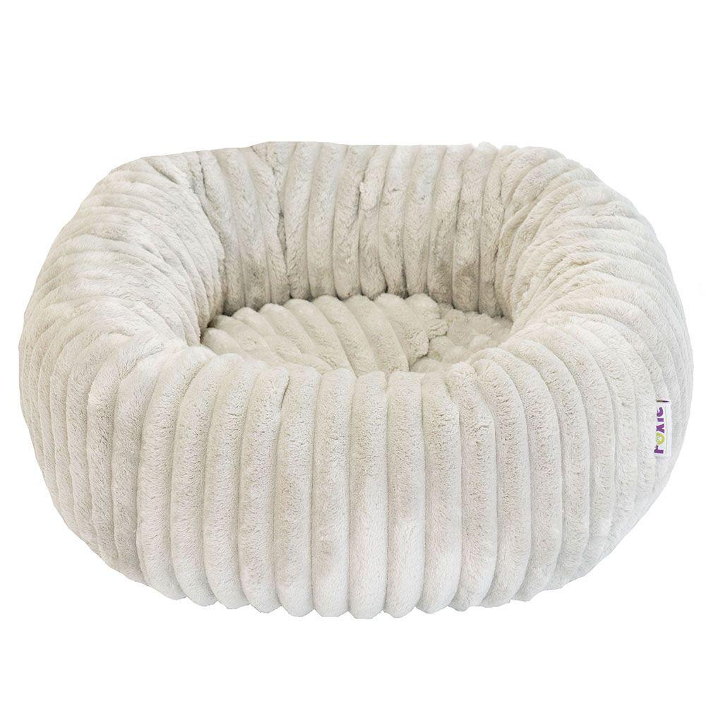 Фото - Лежак для животных Foxie Leather 53х53х20см круглый серый лежак для животных foxie leather 70х60х23см красный